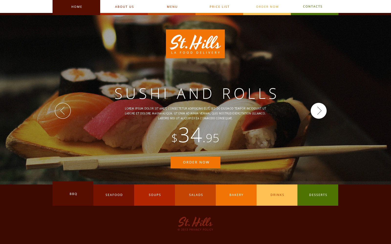 Sushi Bar Website Templates