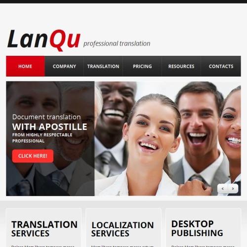Lanqu - Facebook HTML CMS Template
