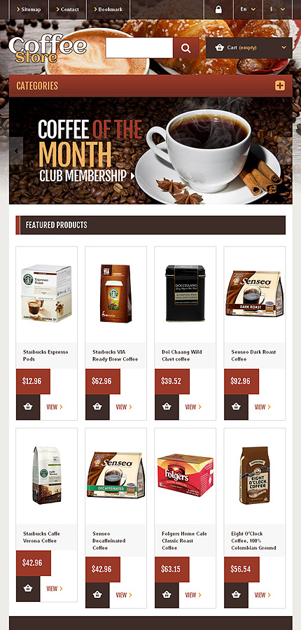 ADOBE Photoshop Template 45301 Home Page Screenshot