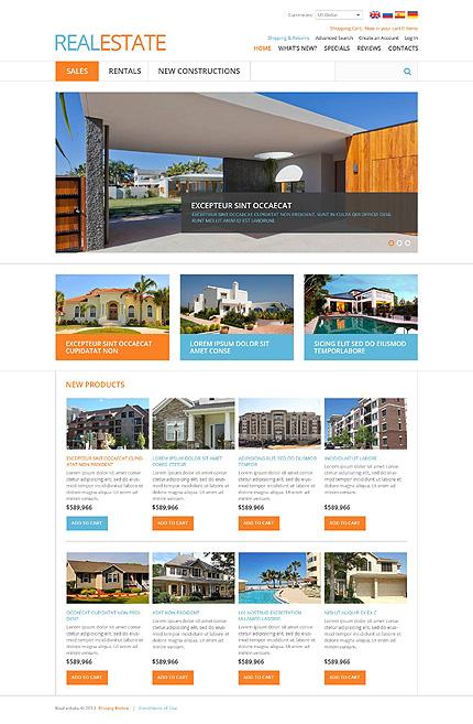 osCommerce Template 45303 Main Page Screenshot