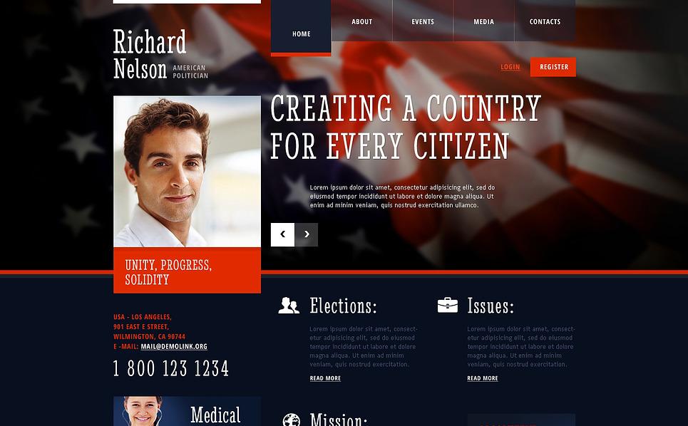 Responzivní Šablona webových stránek na téma Politický kandidát New Screenshots BIG