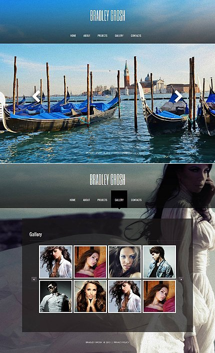 ADOBE Photoshop Template 45320 Home Page Screenshot