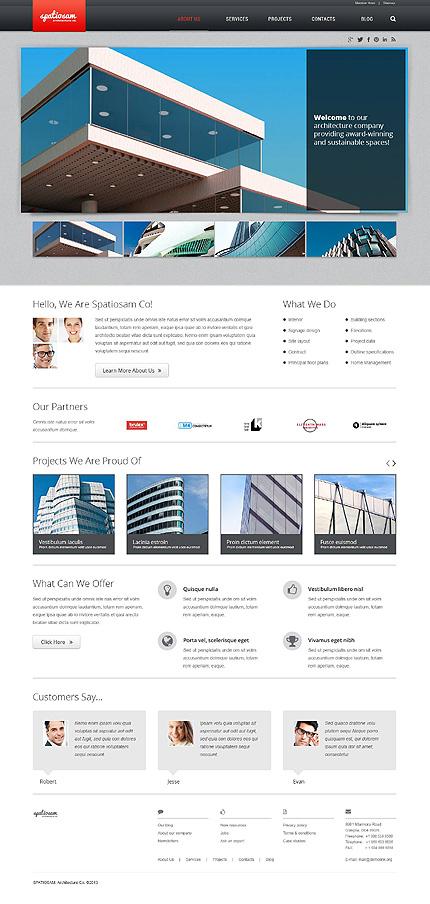 Joomla Theme/Template 45333 Main Page Screenshot