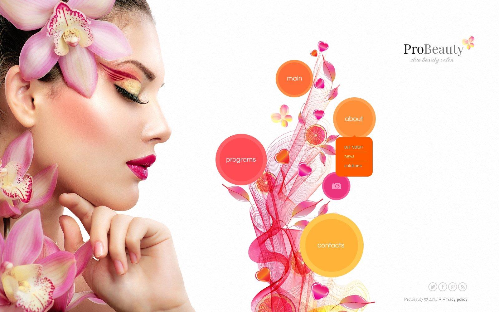 Best Pro Beauty Salon Javascript Based Design 45344 Sale Super Low Price Free Bonuses Instant Download
