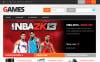 """Responsive Games Store"" 响应式PrestaShop模板 PrestaShop Main Page Screenshot"