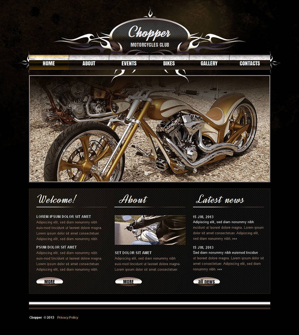 Motorcycles Club Website Template - image