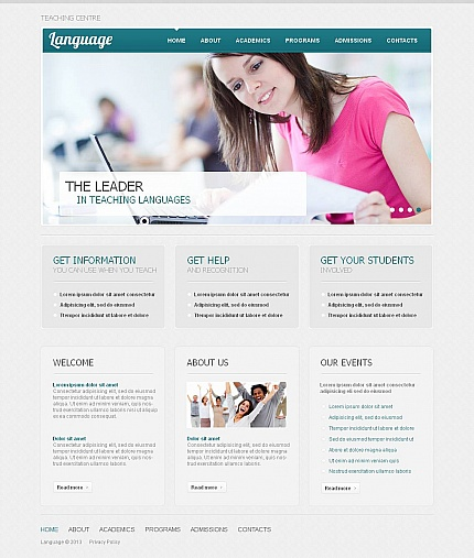 ADOBE Photoshop Template 45352 Home Page Screenshot