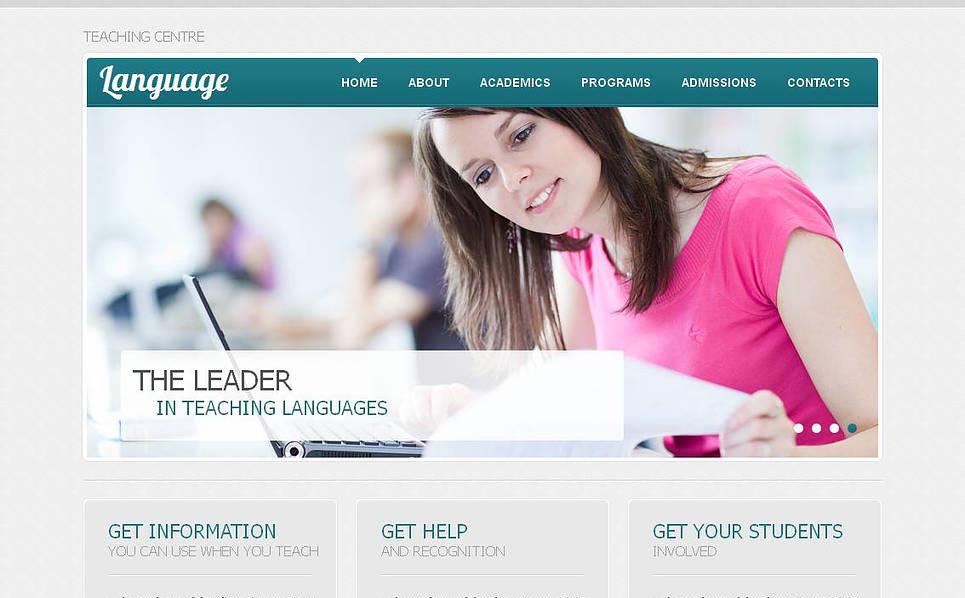 Szablon Moto CMS HTML #45352 na temat: szkoła językowa New Screenshots BIG