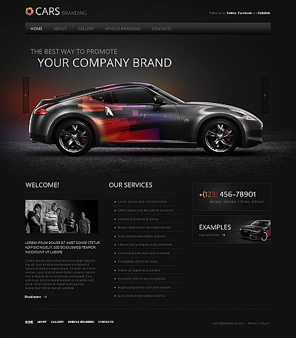 ADOBE Photoshop Template 45353 Home Page Screenshot