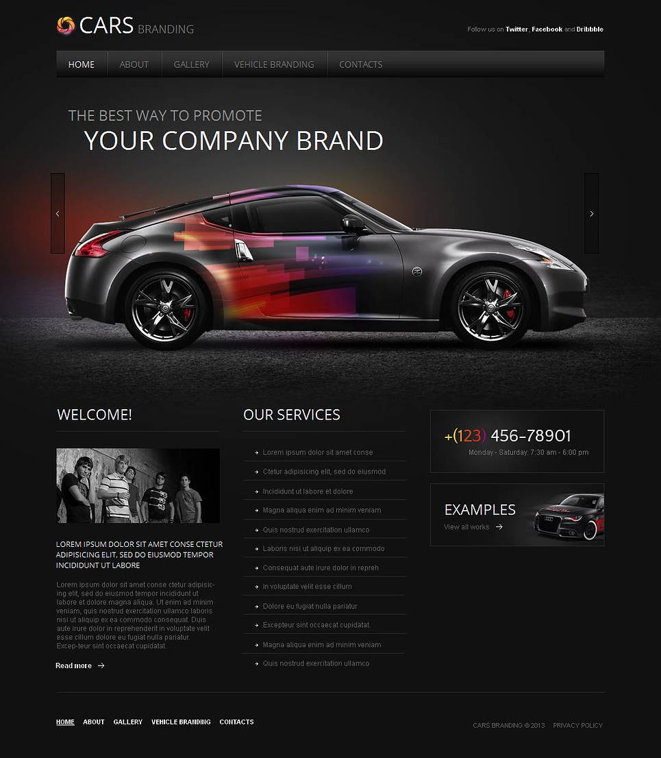 Cars Tuning Business Website Template - image