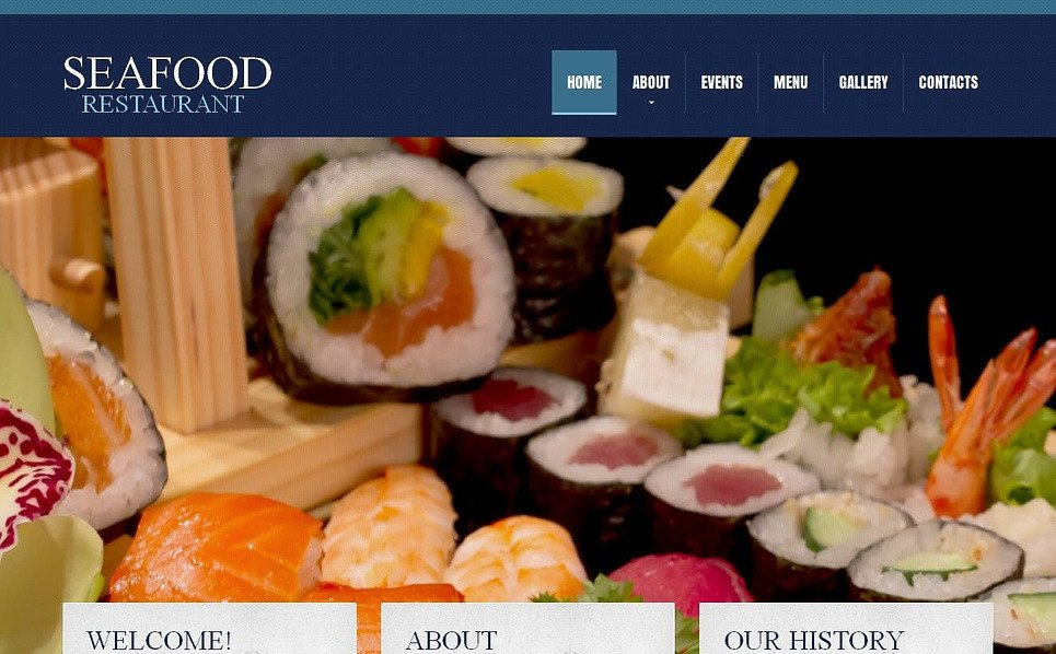 Szablon Moto CMS HTML #45356 na temat: owoce morza restauracja New Screenshots BIG