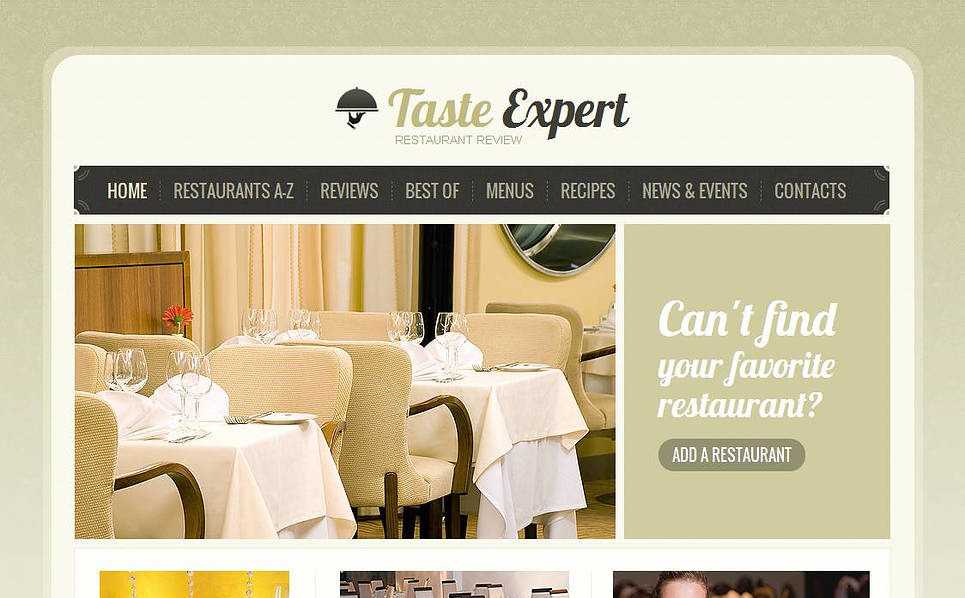 Template Moto CMS HTML para Sites de Opinioes sobre restaurantes №45358 New Screenshots BIG