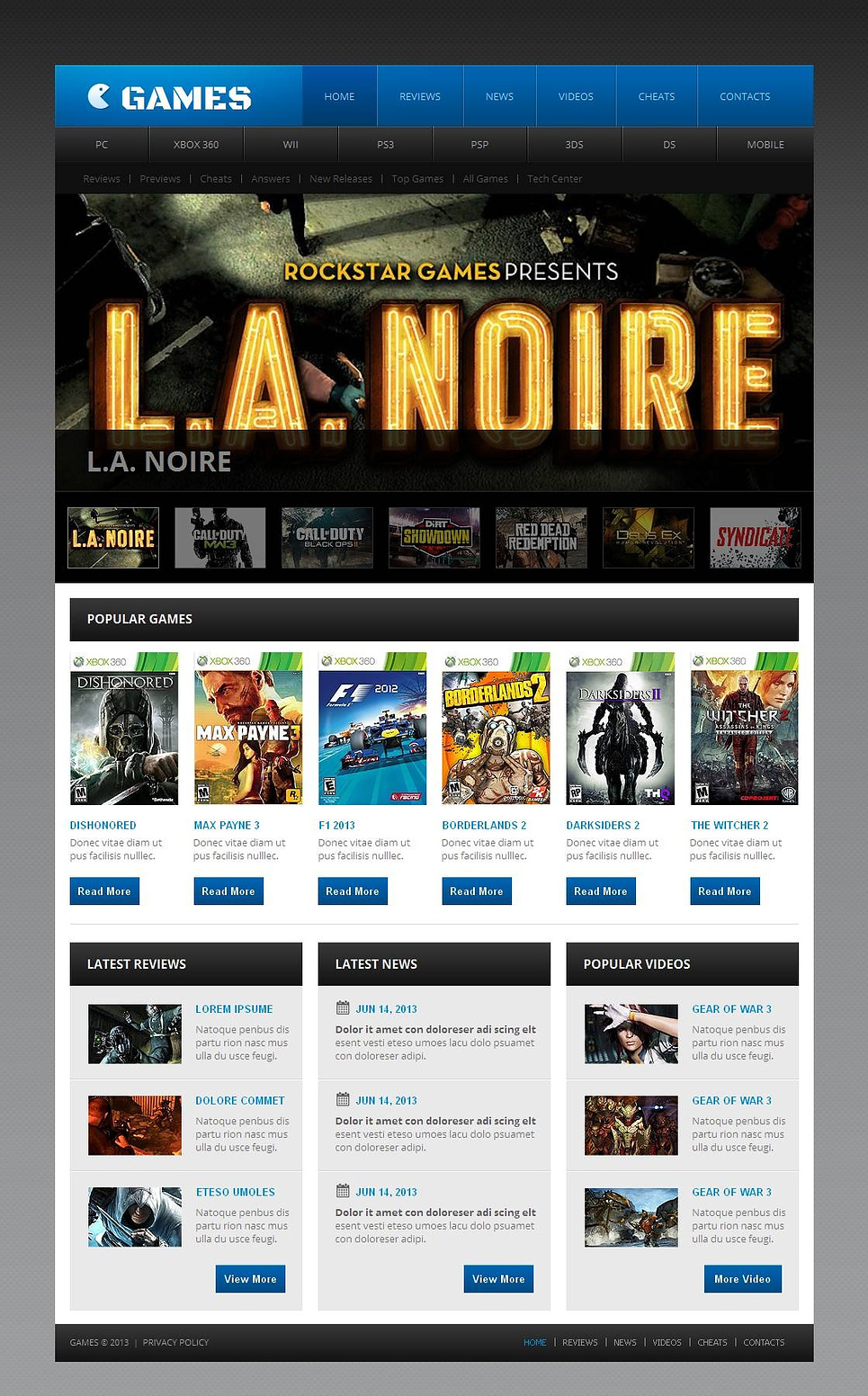 Games Website Template with the Admin Panel - image