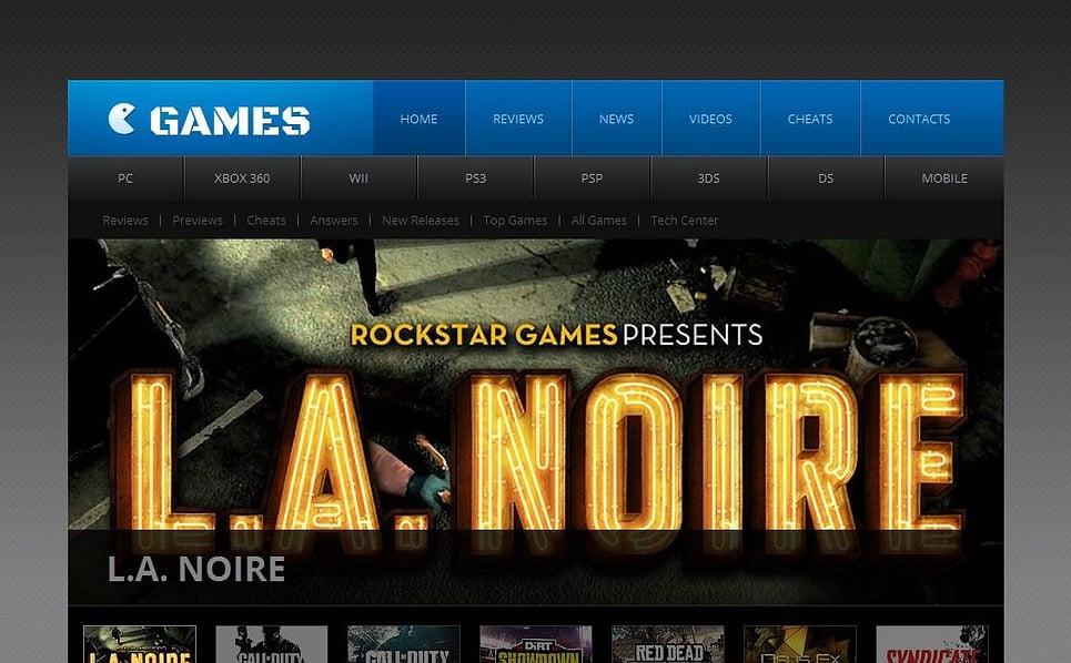 Szablon Moto CMS HTML #45360 na temat: portal gier New Screenshots BIG