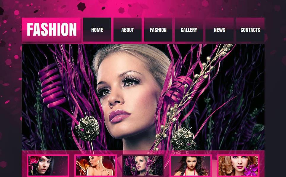 Modèle Moto CMS HTML  pour fashion blog  New Screenshots BIG