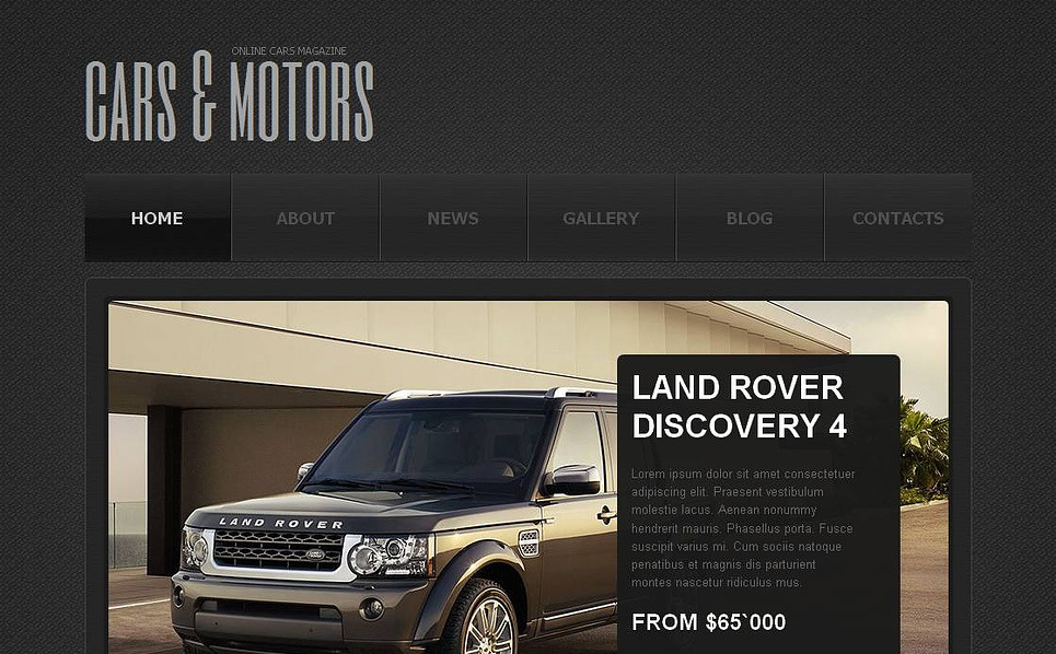 Template Moto CMS HTML para Sites de Clube de Carros №45362 New Screenshots BIG