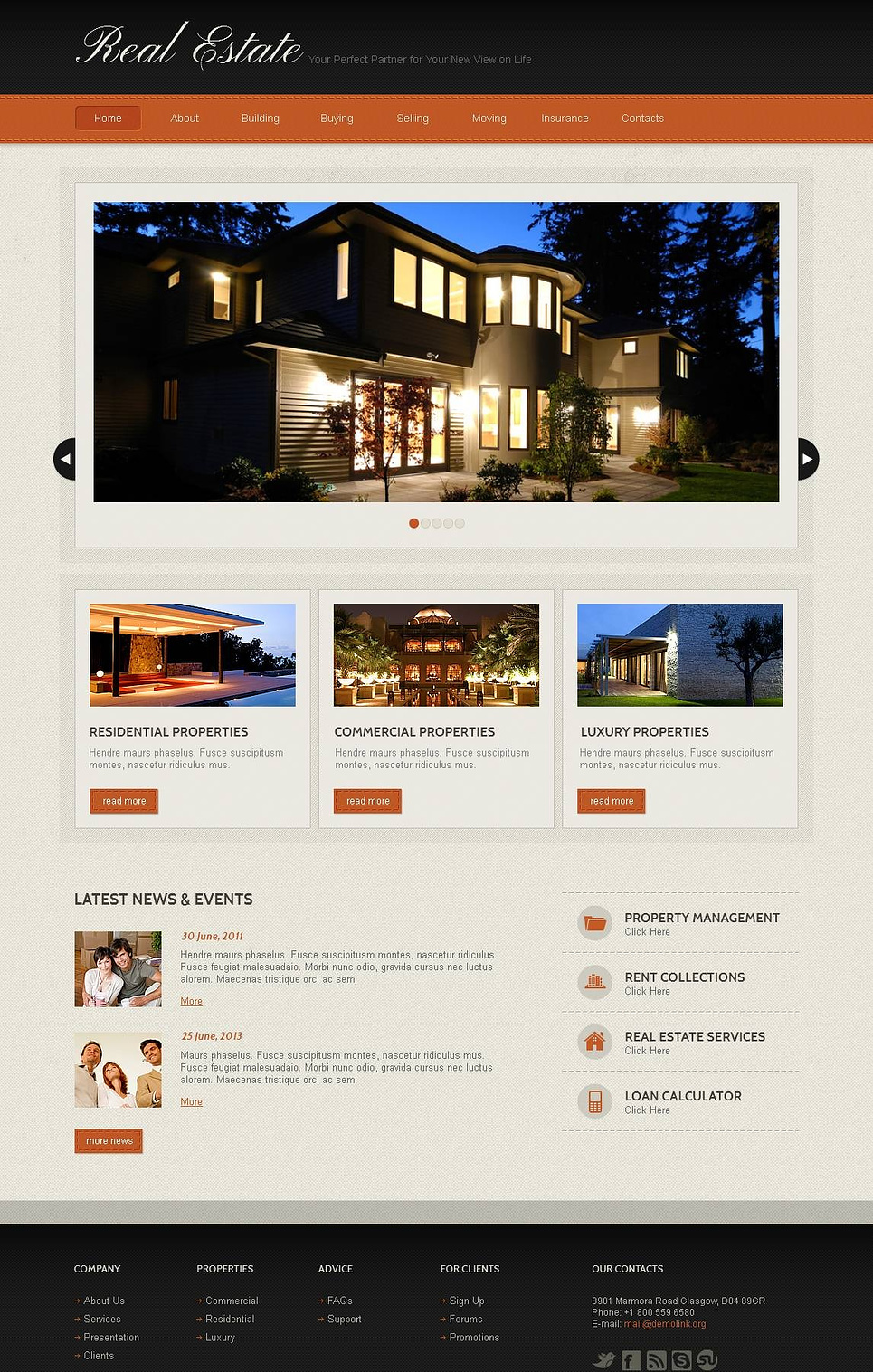 Real Estate Website Template with Elegant Look - image