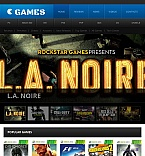 Games Facebook HTML CMS  Template 45380