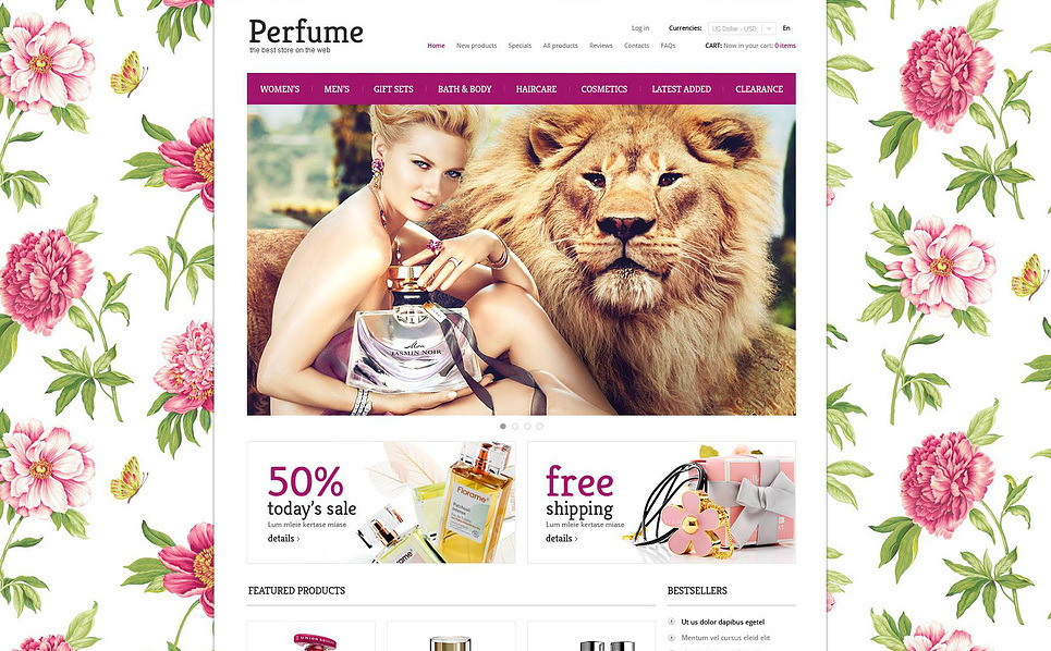 Plantilla ZenCart #45395 para Sitio de Tienda de cosméticos New Screenshots BIG