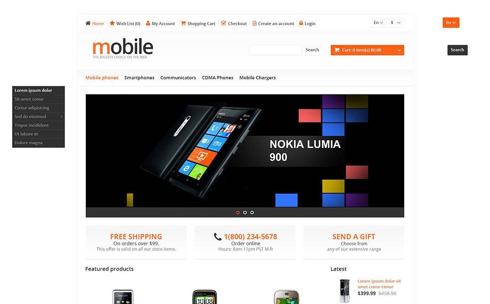 "OpenCart Vorlage namens ""Handy Shop"" New Screenshots BIG"