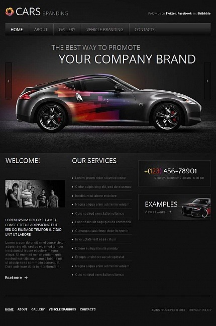 Car Club Facebook HTML CMS Template Facebook Screenshot