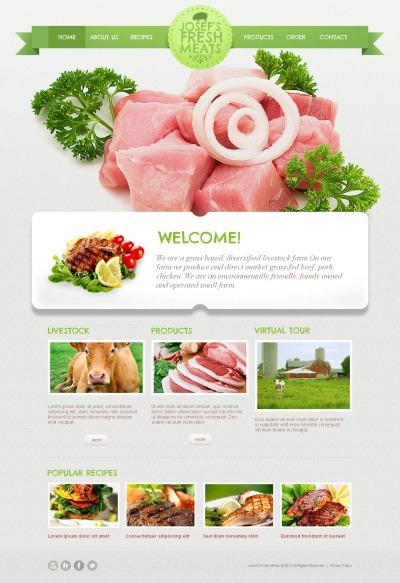 Cattle Farm Moto CMS HTML Template #45365