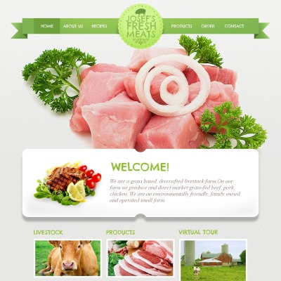 Cattle Farm Moto CMS HTML Template #45365