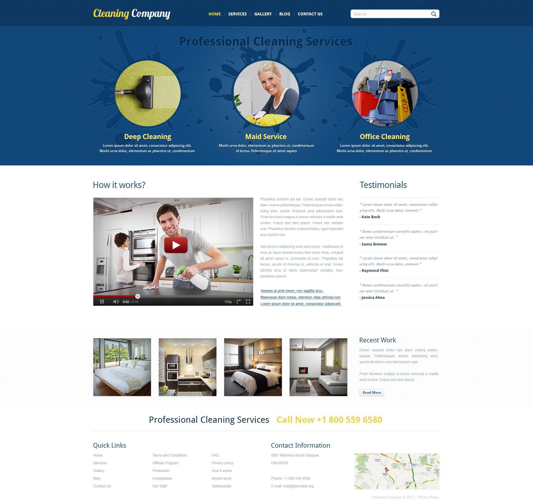 cleaning responsive joomla template  cleaning responsive joomla template