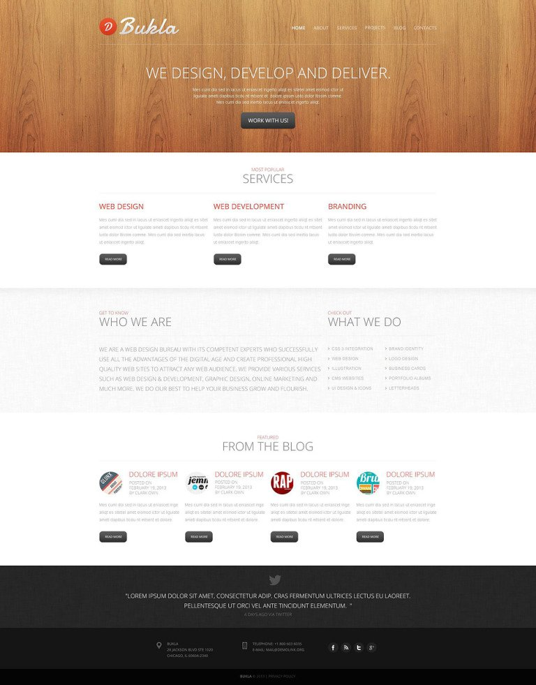 Combined Design Studio Drupal Template New Screenshots BIG