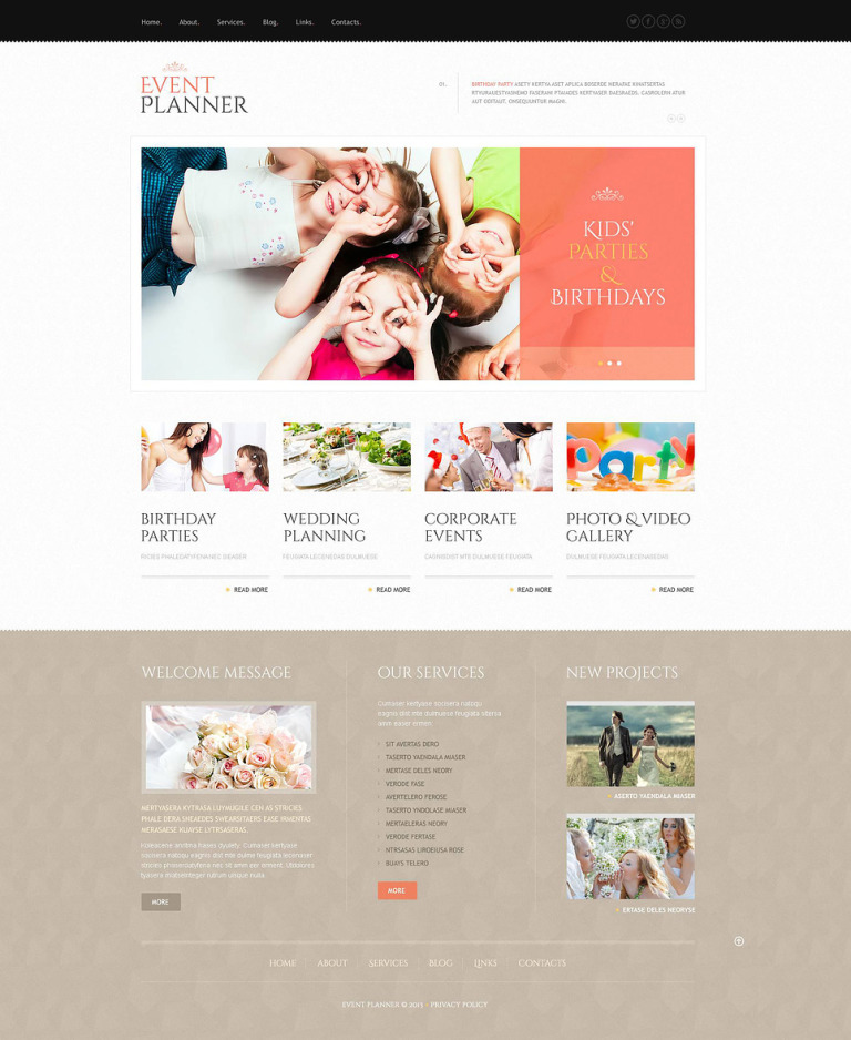 Event Planner WordPress Theme New Screenshots BIG