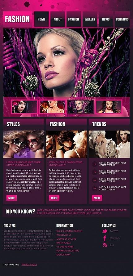 Fashion Blog Facebook HTML CMS Template Facebook Screenshot
