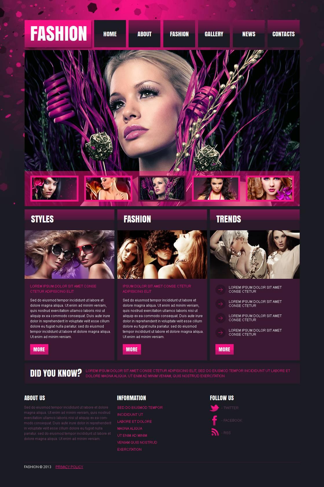 Fashion Blog Moto CMS HTML Template