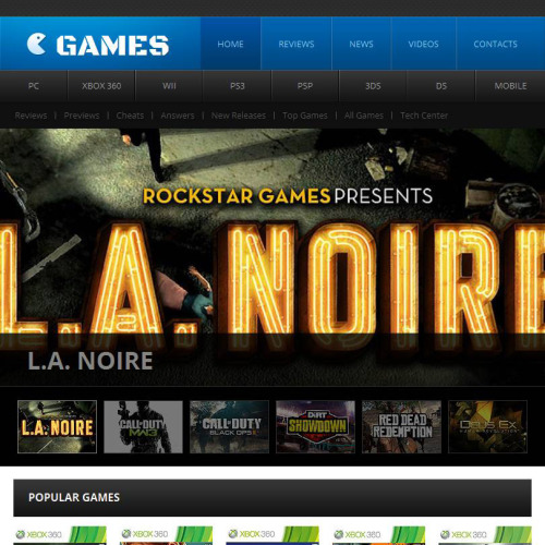 Games - Facebook HTML CMS Template