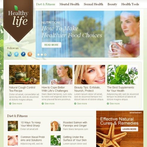 Herbal Life - Facebook HTML CMS Template