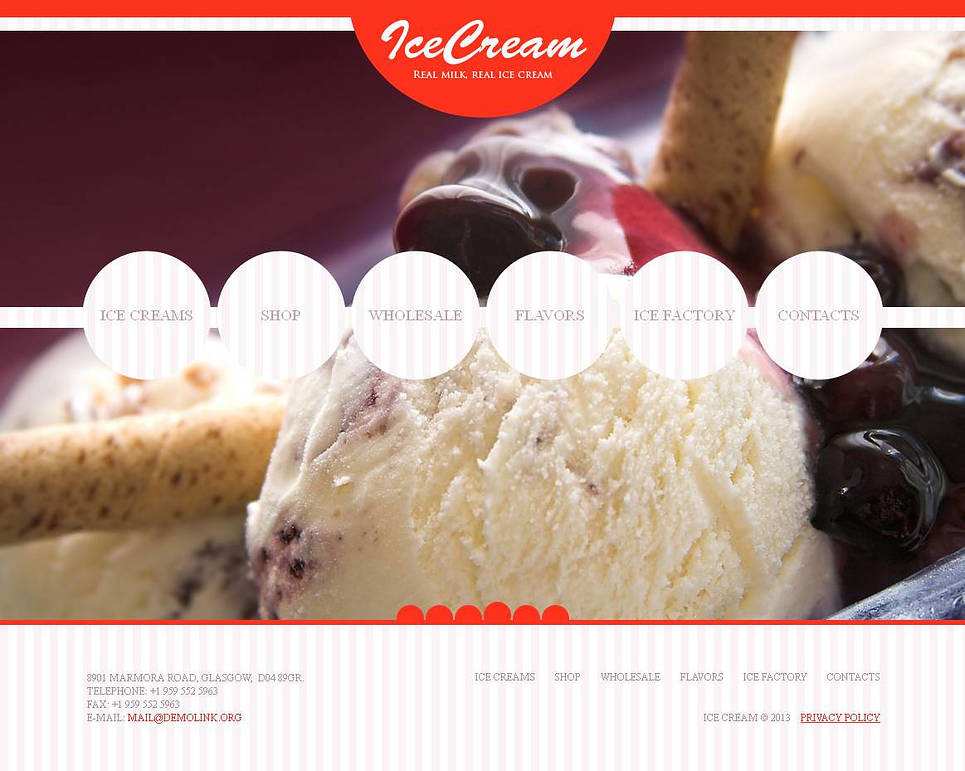 Ice Cream Moto CMS HTML Template New Screenshots BIG