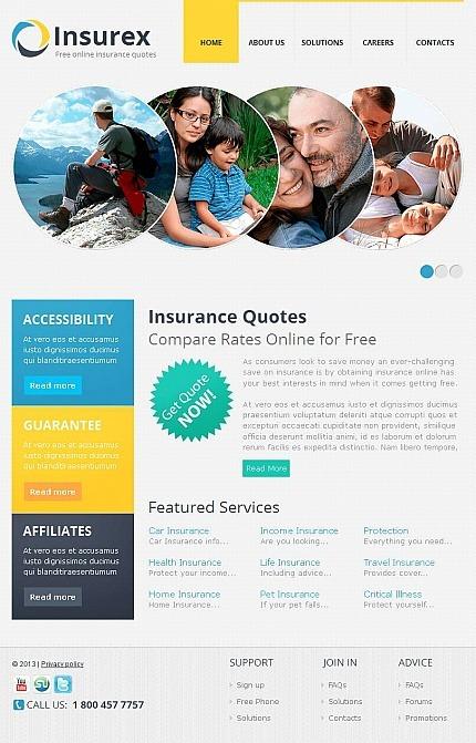 Insurance Facebook HTML CMS Template Facebook Screenshot