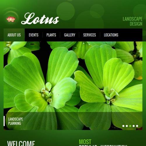 Lotus - Facebook HTML CMS Template