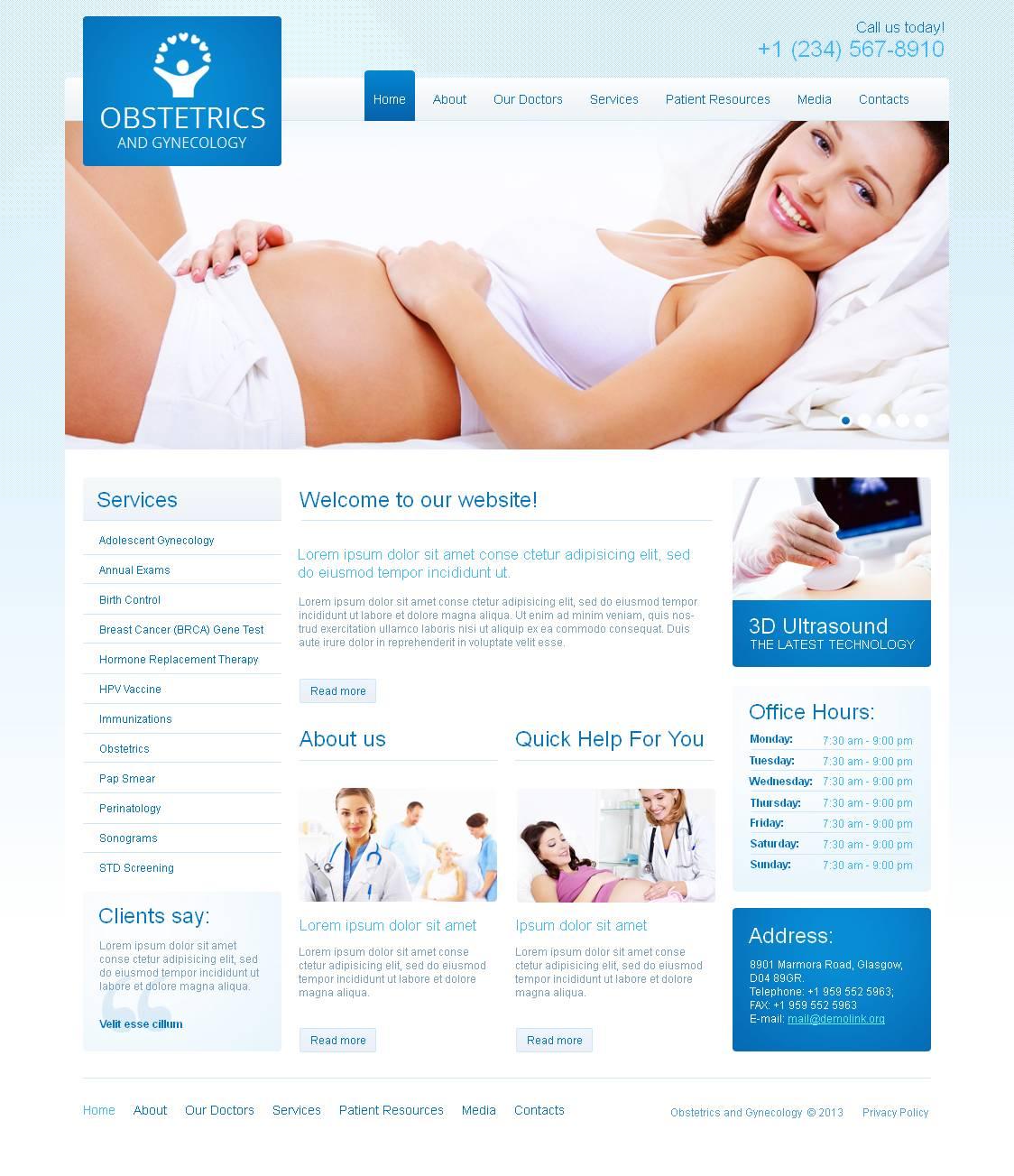 Luxusní Moto CMS HTML šablona na téma Těhotnost #45357