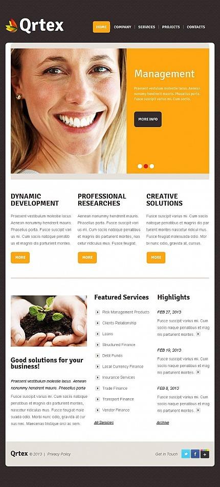 Management Company Facebook HTML CMS Template Facebook Screenshot