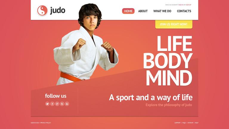 Martial Arts Website Template New Screenshots BIG