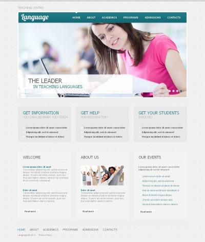 Modèle Moto CMS HTML  pour site d'école de langues