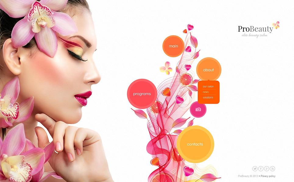 Modèle Web Bootstrap  pour salon de beauté New Screenshots BIG