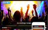 "Modello Joomla Responsive #45332 ""Night Club"" New Screenshots BIG"