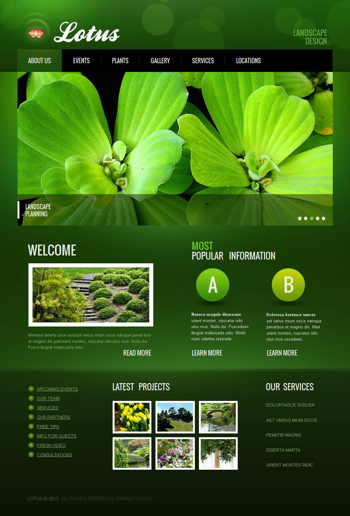 Moto CMS HTML Vorlage für Landschaftsgestaltung #45364