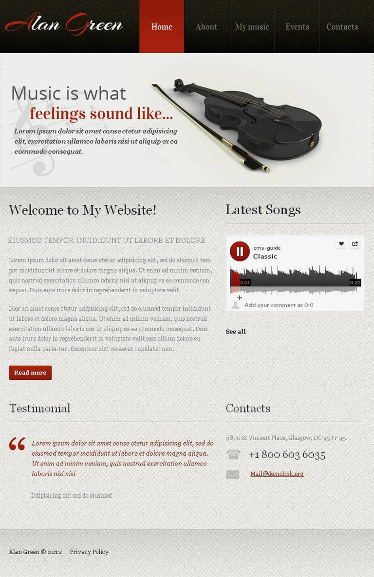 Personal Page Facebook HTML CMS Template New Screenshots BIG