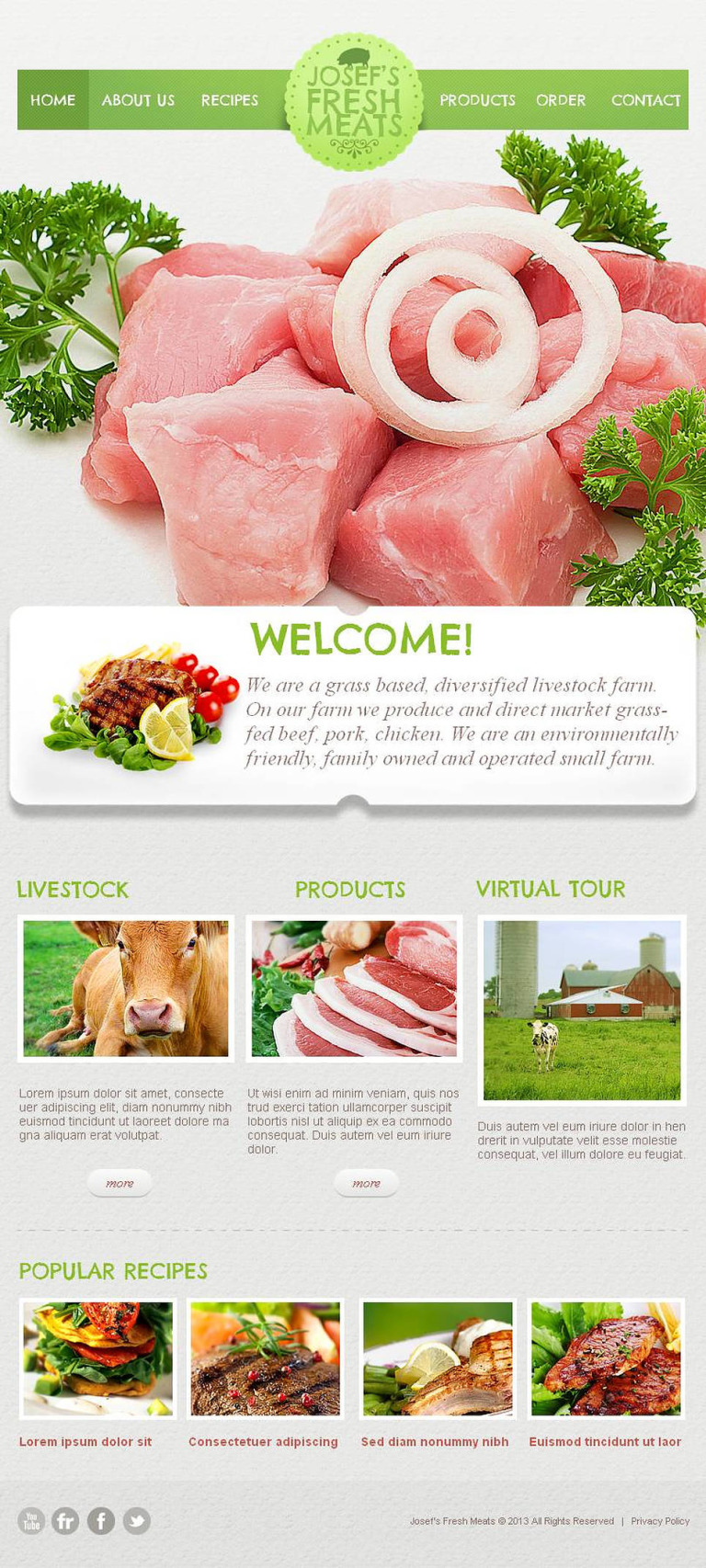 Poultry Farm Facebook HTML CMS Template New Screenshots BIG