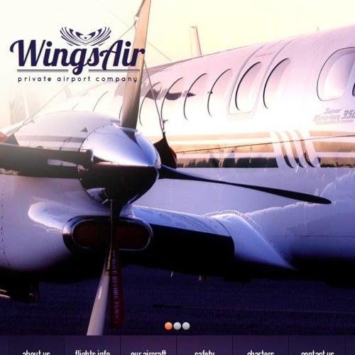Wings Air - Facebook HTML CMS Template