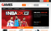 """Responsive Games Store"" Responsive PrestaShop Thema PrestaShop Main Page Screenshot"