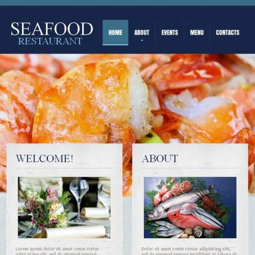 Seafood Restaurant - Facebook HTML CMS Template