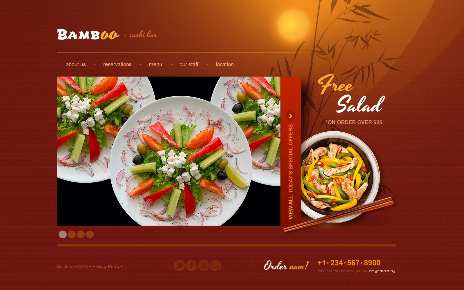 Sushi Bar Website Template #45313